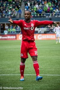 Jermaine DEFOE golpeó mortalmente a los Sounders FC en menos de media hora con sus dos goles para darle la victoria al Toronto FC en el CenturyLink Field | Foto: Justo HERNÁNDEZ